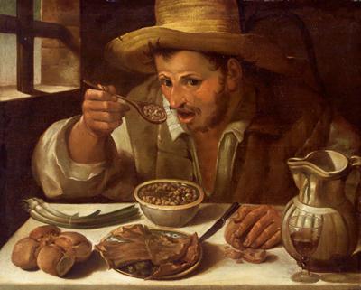 Il mangiatore di fagioli di Annibale Carracci
