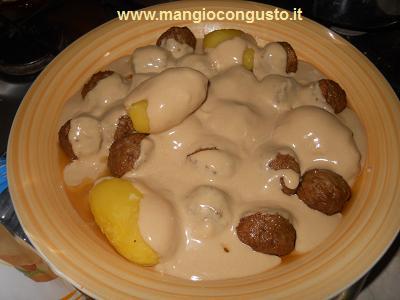 polpette ikea con patate e salsa graddsas