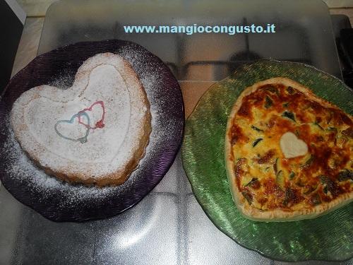 torta salata e dolce di san valentino