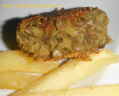 interno frittella di lenticchie