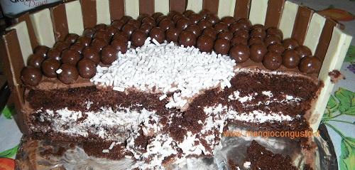 interno torta farcita