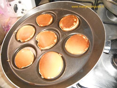 pancake dorati a fine cottura