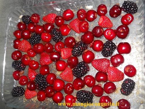 i frutti rossi per il nostro clafoutis