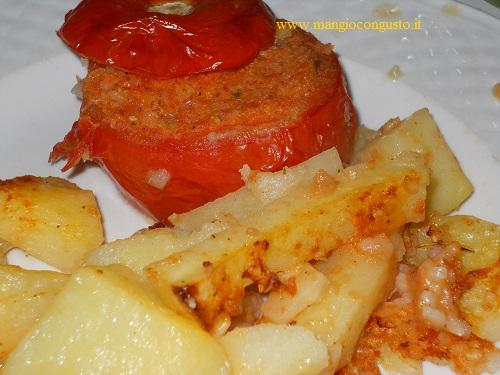 il ripieno dei pomodori e le patate
