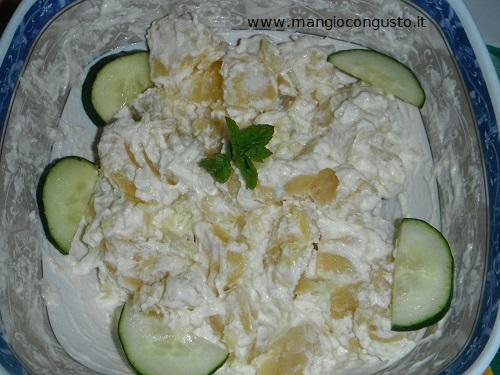 insalata di patate tzatziki