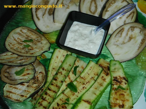 verdure con tzatziki