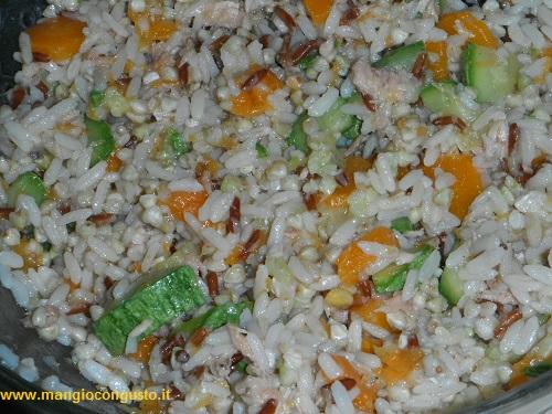 riso e grano saraceno alle verdure