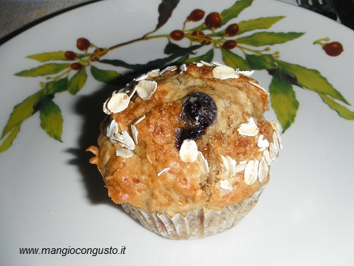 muffin banana e mirtillo