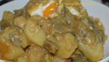 zuppa carciofi uova e patate