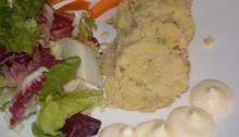 rotolo tonno e patate impiattato