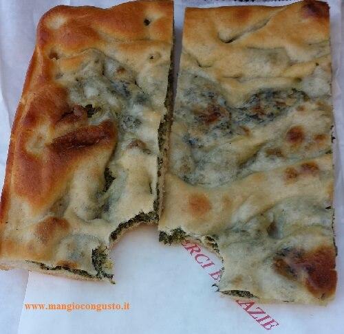 pizza genovese formaggio e bietole