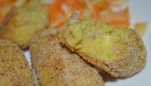 interno crocchette di patate e prosciutto