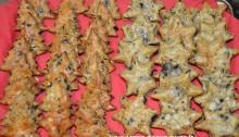 vassoio alberelli e stelline parmigiano e olive