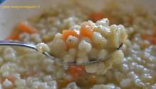 Minestra d'orzo carote e patate