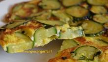 fetta di frittata di zucchine