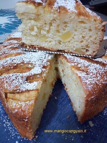 fetta torta ricotta e mele