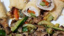 involtini di pollo funghi e verdure