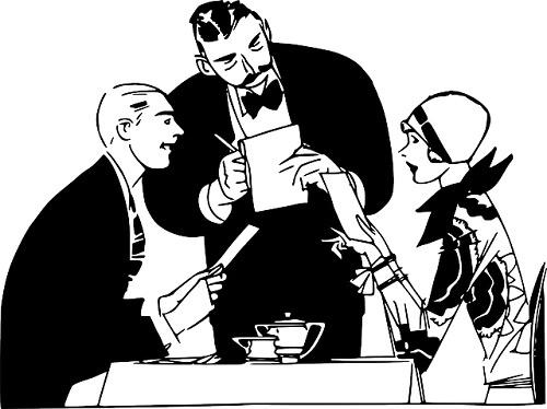 ristorante con direttore di sala