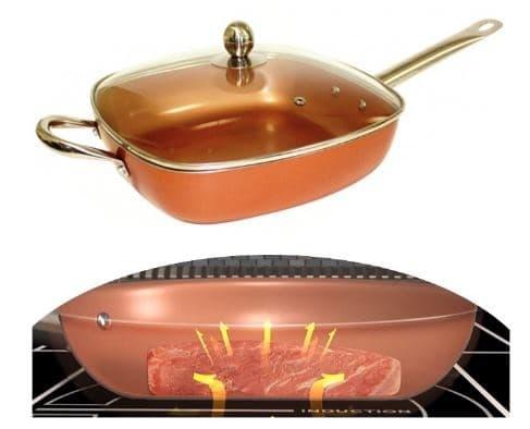 distribuzione del calore nelle pentole copper pan