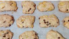 biscotti vegan mele e cioccolato