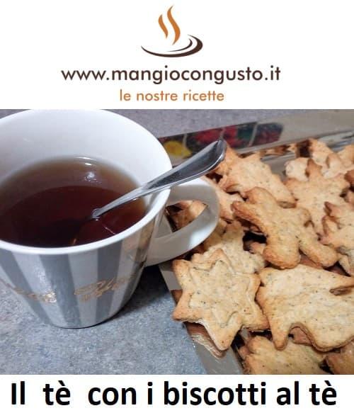 il tè con i biscotti al tè